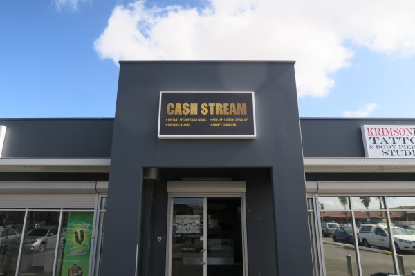 Cash Stream Backlit Sign