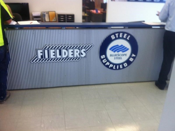 Fielders counter signage